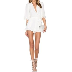Revolve lovers + friends Reese white romper